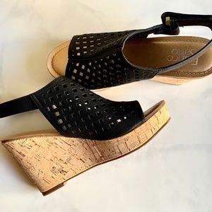 Franco Sarto NEW Black Wedge Sandal